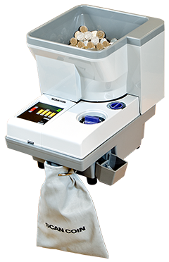 SuzoHapp SC-313 Portable Coin Counter and Sorter Processing Coins.